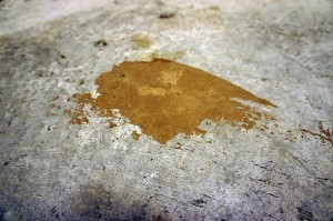 Concrete comes clean with sodium percarbonate for Removing dirt stains from concrete
